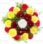 Burdur çiçekçi mağazası  13 adet mevsim çiçeğinden görsel buket