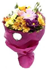 1 demet karışık görsel buket  Burdur anneler günü çiçek yolla