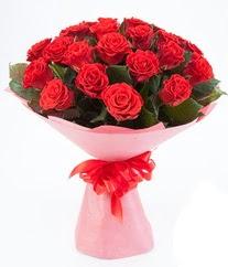 15 adet kırmızı gülden buket tanzimi  Burdur çiçek siparişi sitesi