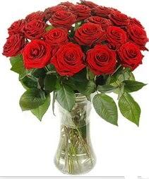 Burdur çiçek mağazası , çiçekçi adresleri  Vazoda 15 adet kırmızı gül tanzimi