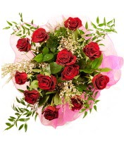12 adet kırmızı gül buketi  Burdur 14 şubat sevgililer günü çiçek