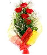 5 li kırmızı gül buketi  Burdur internetten çiçek satışı