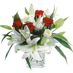 vazo içerisinde 4 gül 1 adet kazablanka  Burdur online çiçek gönderme sipariş