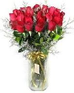 27 adet vazo içerisinde kırmızı gül  Burdur İnternetten çiçek siparişi