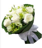 9 adet beyaz gül buketi  Burdur çiçek siparişi sitesi