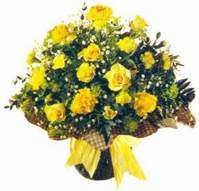 Burdur çiçek , çiçekçi , çiçekçilik  Sari gül karanfil ve kir çiçekleri
