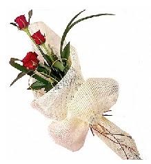 3 adet kırmızı gül buketi  Burdur güvenli kaliteli hızlı çiçek