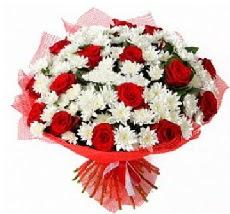 11 adet kırmızı gül ve 1 demet krizantem  Burdur çiçek mağazası , çiçekçi adresleri