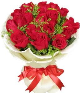 19 adet kırmızı gülden buket tanzimi  Burdur çiçek servisi , çiçekçi adresleri