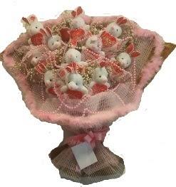 12 adet tavşan buketi  Burdur çiçek mağazası , çiçekçi adresleri