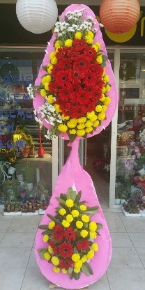 Çift katlı düğün nikah açılış çiçek modeli  Burdur çiçekçiler