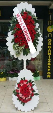 Çift katlı düğün nikah çiçeği modeli  Burdur çiçek siparişi sitesi