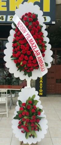 Çift katlı düğün nikah çiçeği modeli  Burdur hediye çiçek yolla