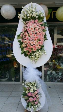 Çift katlı özel şahane sepet çiçeği  Burdur çiçekçi telefonları