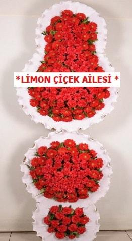 3 katlı kırmızı düğün açılış çiçeği  Burdur çiçek gönderme