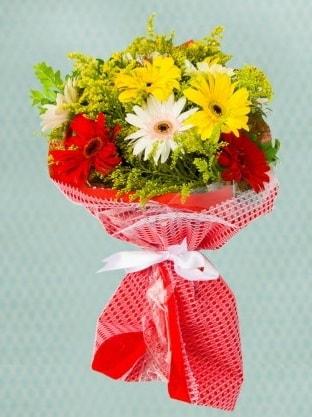Karışık Gelbera Buketi  Burdur çiçek siparişi sitesi