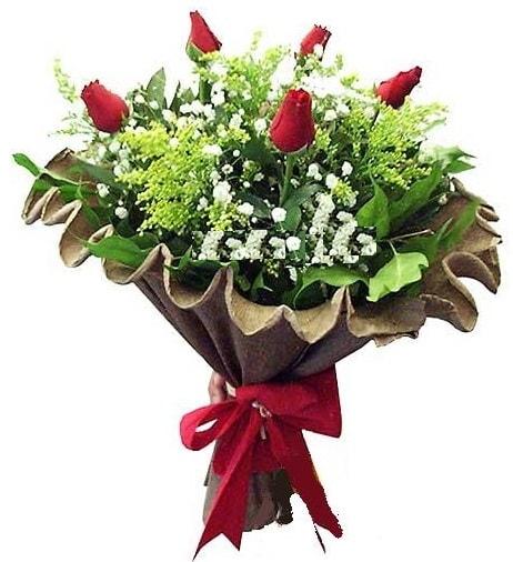 5 adet gülden buket  Burdur çiçek gönderme sitemiz güvenlidir