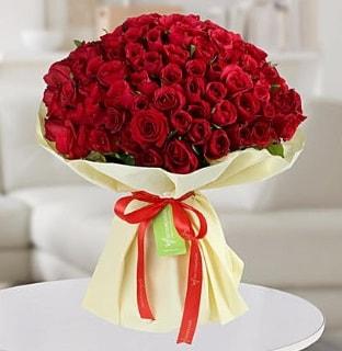 101 adet kırmızı gül buketi koca demet  Burdur internetten çiçek siparişi