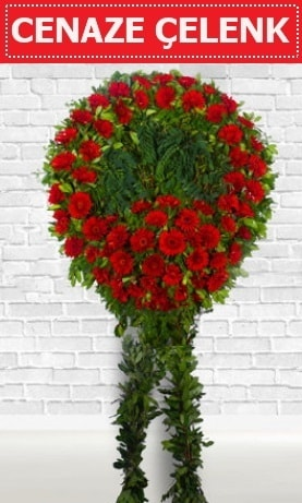 Kırmızı Çelenk Cenaze çiçeği  Burdur İnternetten çiçek siparişi