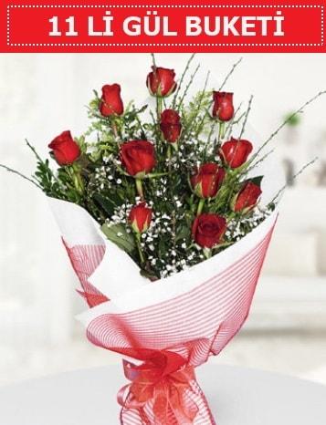 11 adet kırmızı gül buketi Aşk budur  Burdur çiçek gönderme sitemiz güvenlidir
