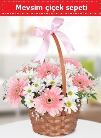 Mevsim kır çiçek sepeti  Burdur çiçek , çiçekçi , çiçekçilik